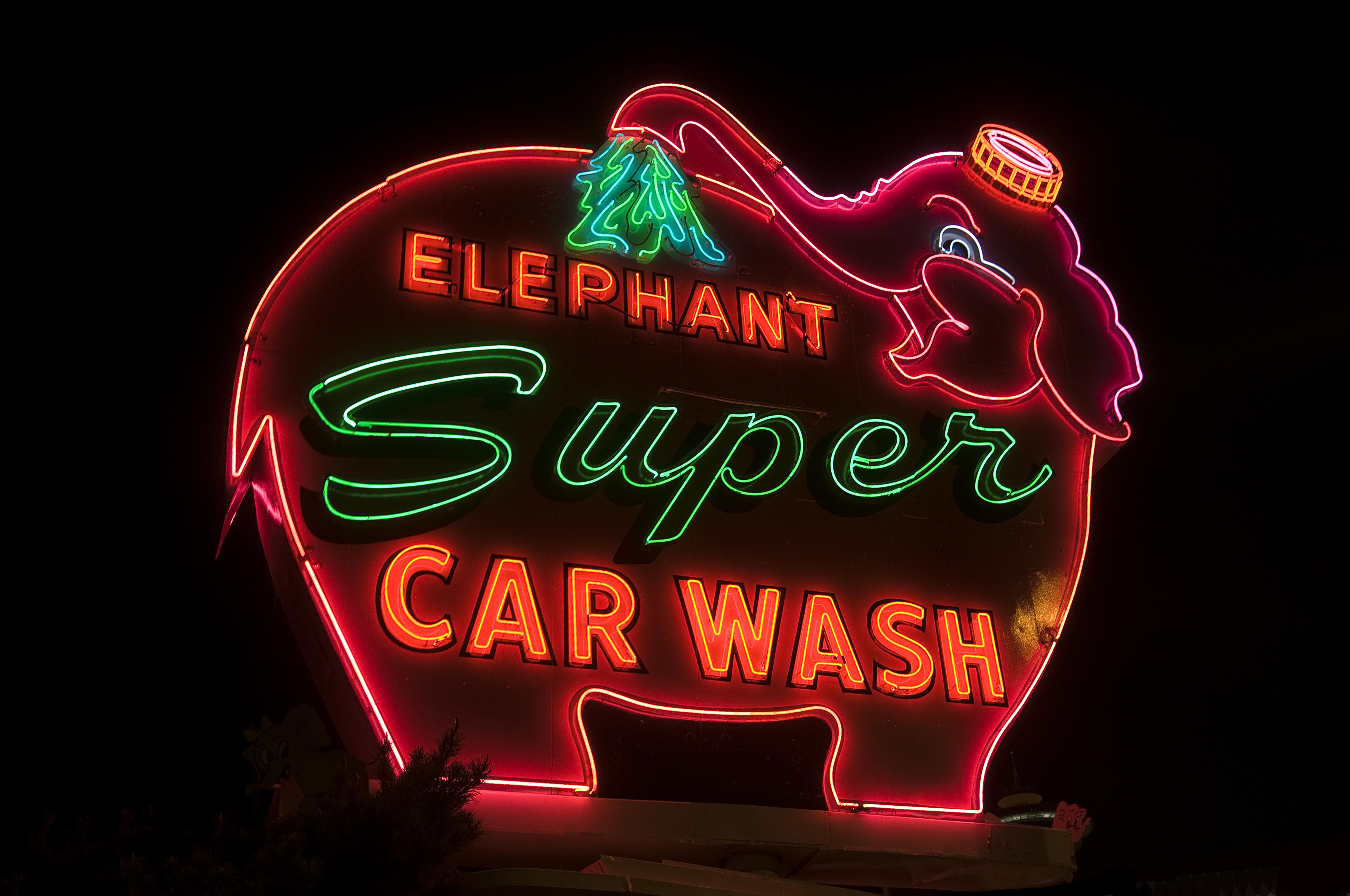Elephant Super Car Wash - 616 Battery Street, Seattle, Washington U.S.A. - September 11, 2012