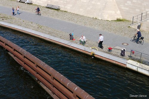 Fishing on the River Spree | by Steven Vance