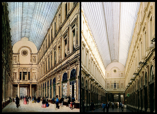 photo + postcard - Galeries St. Hubert, Then & Now | by Jassy-50