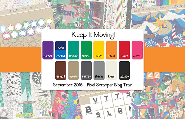DigitalScrapbook.com September 2016 Blog Train - Keep It Moving