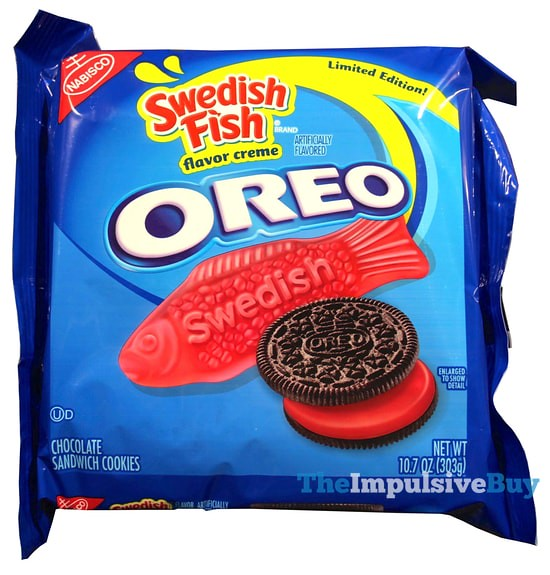 Limited edition swedish fish oreo cookies for What is swedish fish