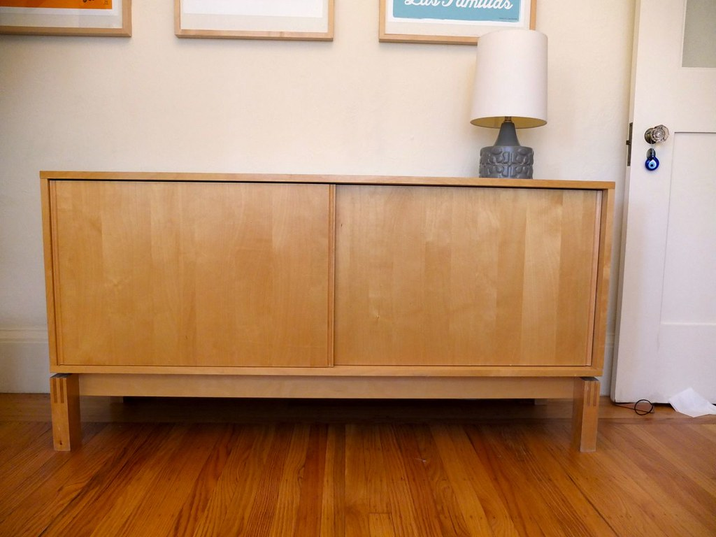 Ikea Birch Credenza : Ikea media credenza in birch instachad flickr