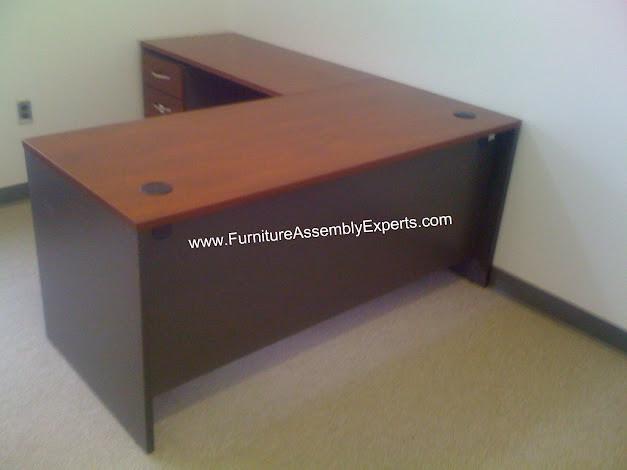 Bush l shaped desk assembly service in bethesda md flickr for I furniture assembly