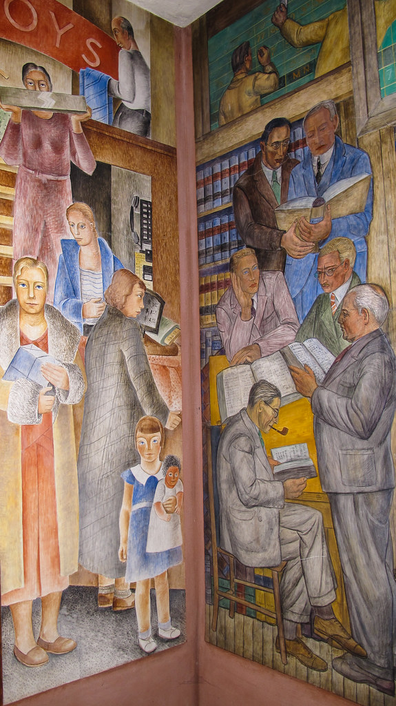 Coit tower mural coit tower also known as the lillian for Coit tower mural artists