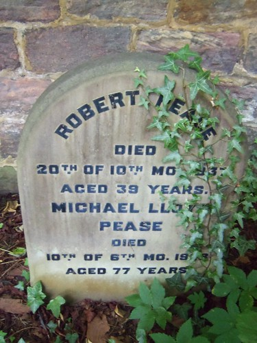 Quaker Burial Ground, Darlington - Robert Pease and Michael Lloyd Pease | by Bolckow