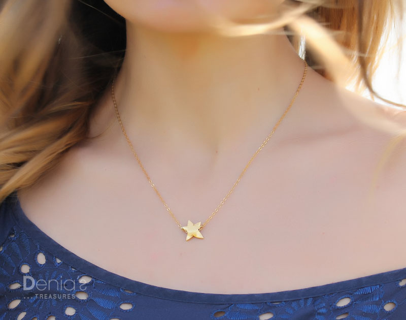 mother jewelry star silver or tiny pin family kids necklace gold and