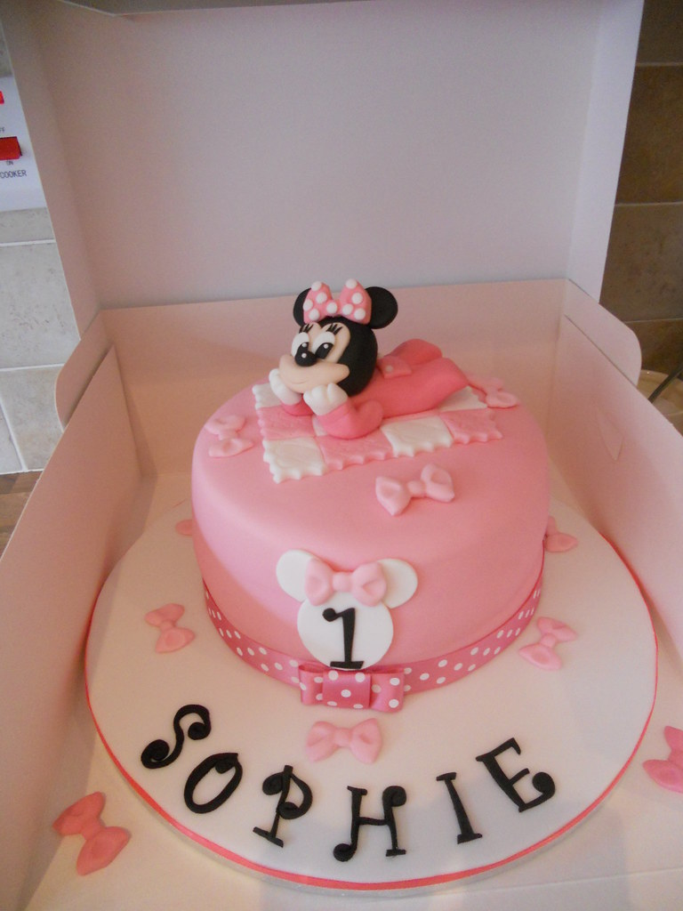 Baby Minnie Mouse 1st Birthday Cake Facebookcakes Flickr