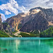 Lago di Braies - Pragser Wildsee, mt.1.496 s.l.m (Acque color smeraldo - Emerald waters)