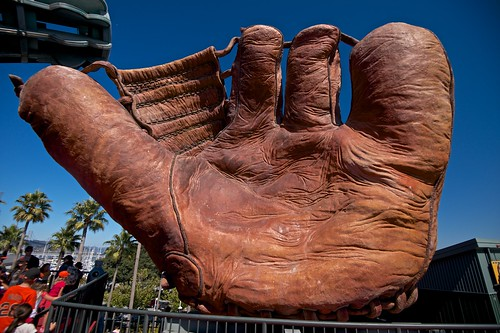 Giant 1927 Old-Time Four-Fingered Baseball Glove | by Thad Roan - Bridgepix