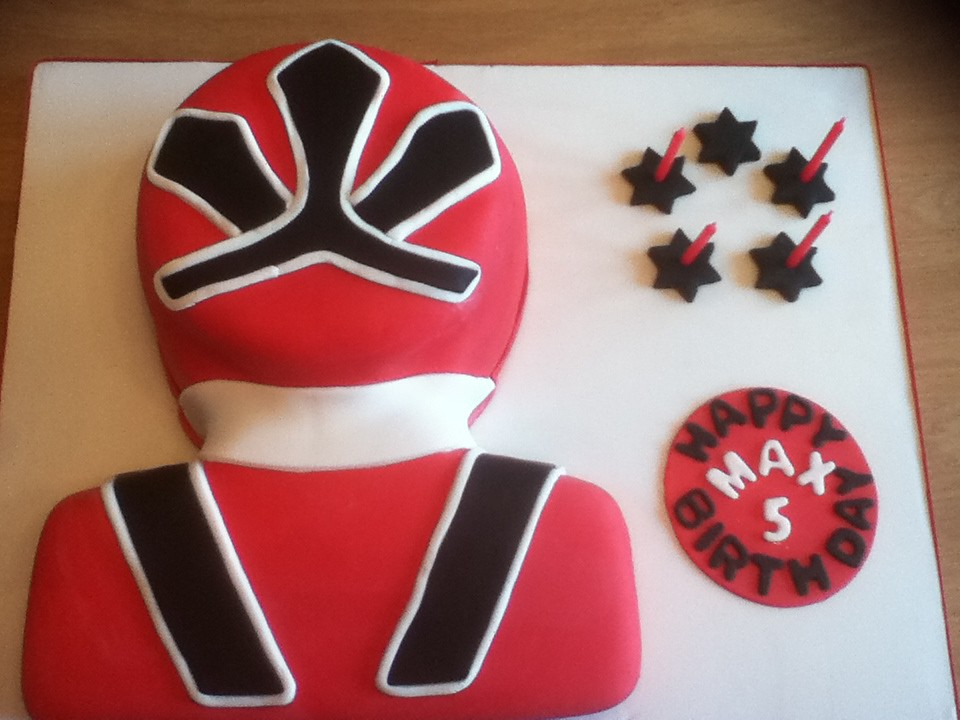 Red Power Ranger Cake Pan