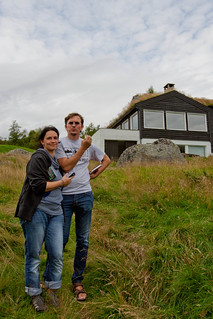 Reini and Mirjam Urban outside the cabin | by Robin Smidsrød