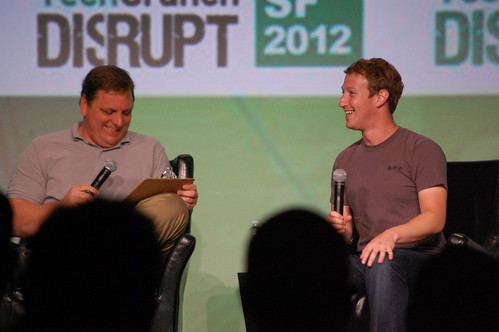 Mark Zuckerberg and Michael Arrington | by Kevin Krejci