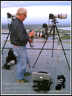 Red Huber on the VAB waiting for Endeavour | by av8rtv tvphotog