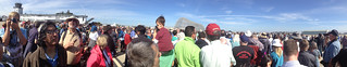 The crowd at NASA Ames waiting for Endeavour | by 1lenore
