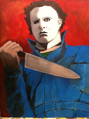 Michael Myers painting(final) | by monstermatt.com
