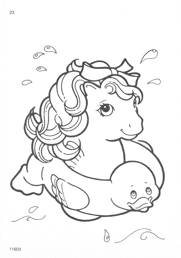 My Little Pony G1 Coloring Pages : My little pony g coloring pages natasja doe flickr
