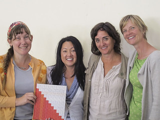 Me, Paula, Denyse and Amy with her book | by susanstars