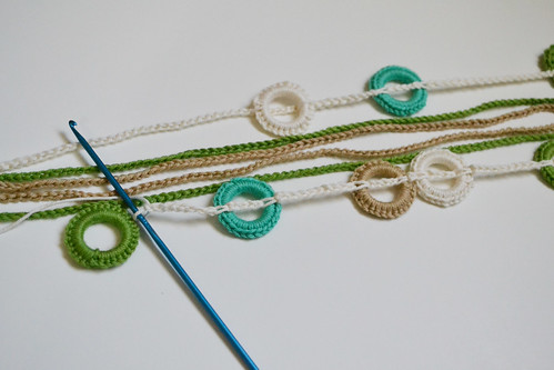 Crocheted Necklace Tutorial Step 3 | by reesedixon