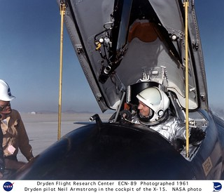Pilot Neil Armstrong in the X-15 #1 cockpit | by NASA on The Commons