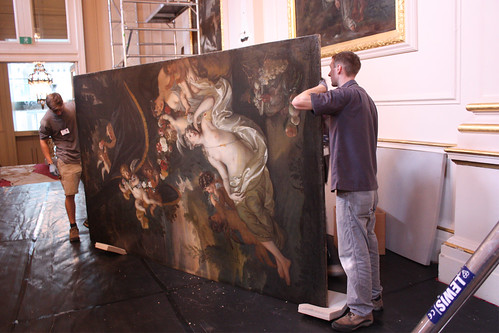 Oil paintings being carried out of the Crush Room ©ROH Collection 2012 | by Royal Opera House Covent Garden