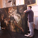 Oil paintings being carried out of the Crush Room ©ROH Collection 2012