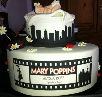 Mary Poppins Baby Shower Cake Mary Poppins Fondant Cake