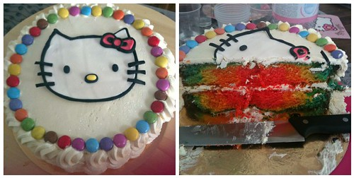 Kitty Rainbow Birthday Cake | by Sugar Daze