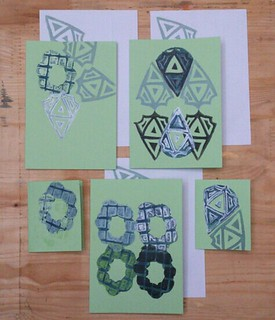 green block printed cards | by Kondor Vali