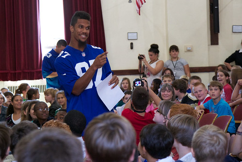 Giants speak to West Point Middle school students about Play 60 | by West Point - The U.S. Military Academy