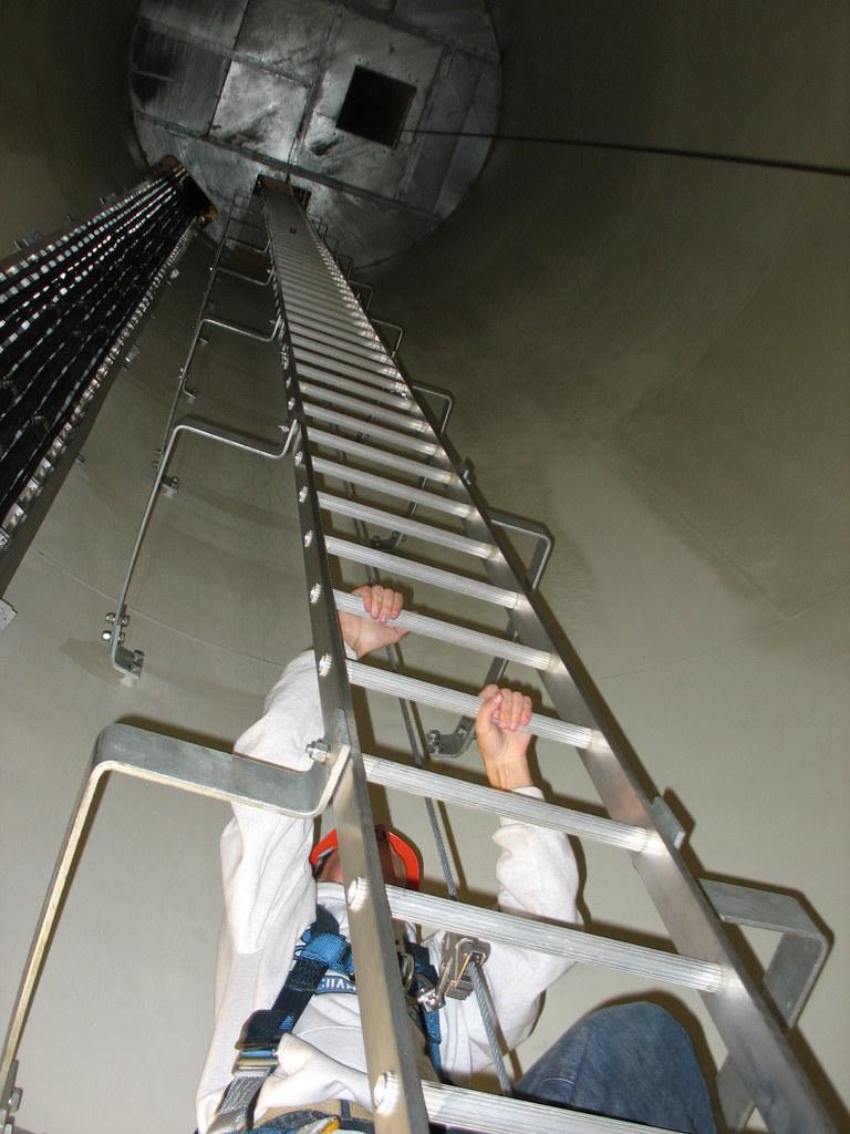 Climbing Wind Turbine Ladder Judith Gap Wind Farm Mt