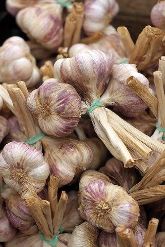 garlic at Agen market | by David Lebovitz