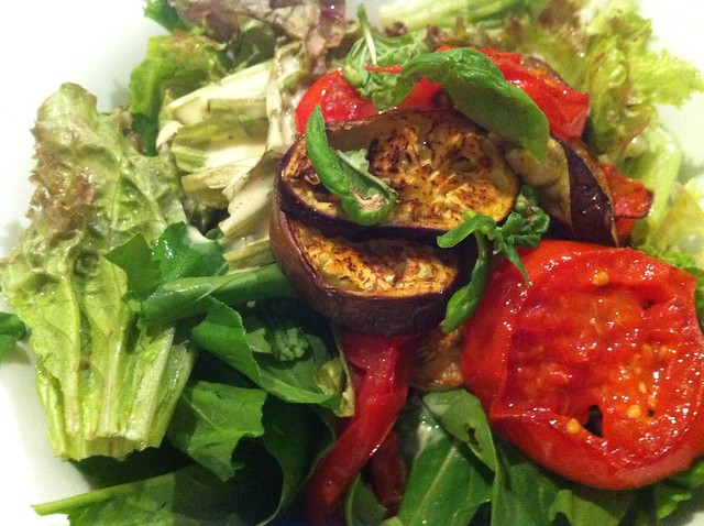 Eggplant and Tomato Tunisian Roasted Vegetable Salad Recipe