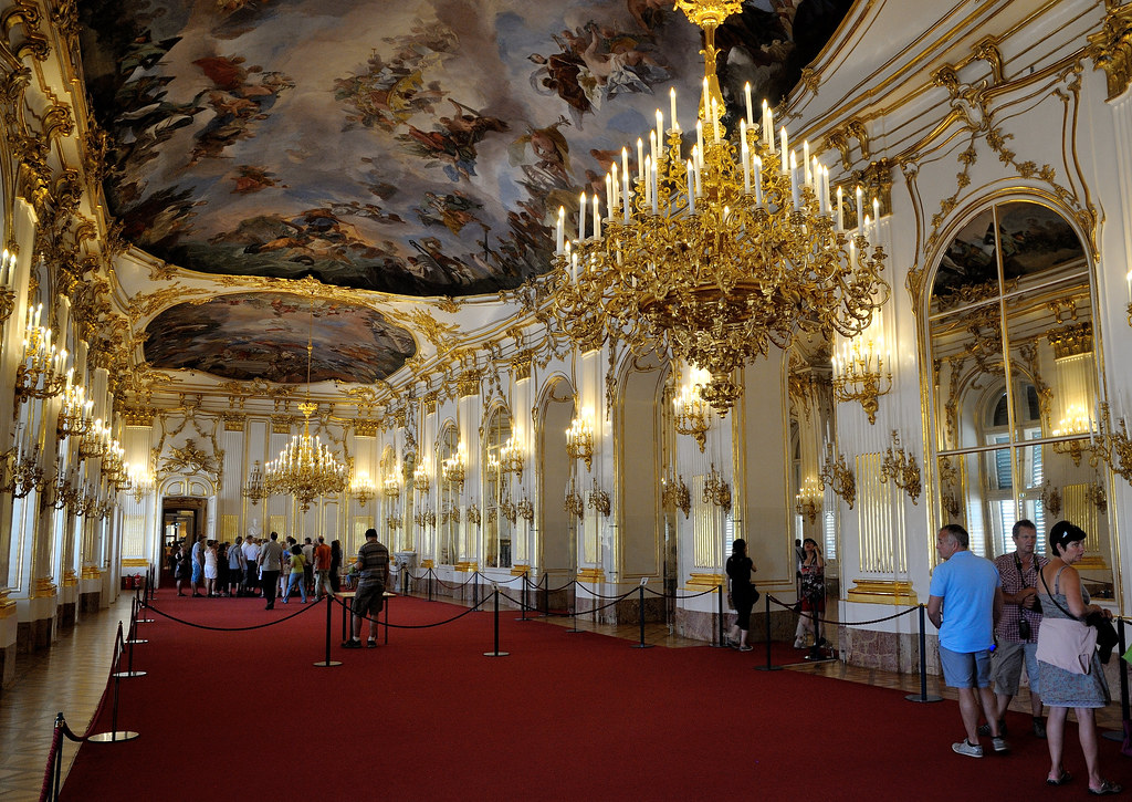 Great Hall Of Sch 246 Nbrunn Palace The Great Hall Of