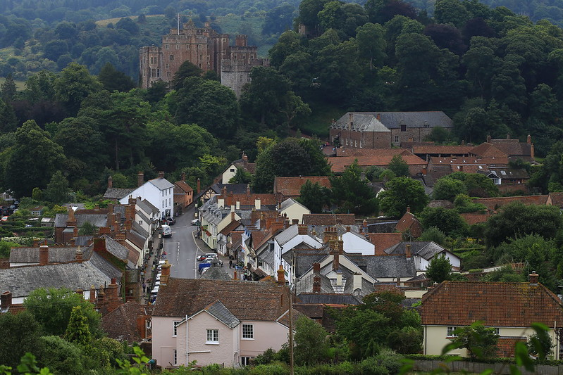 Dunster town, view from Conygar tower