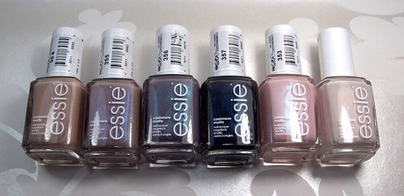 Essie Cashmere Matte Collection Swatches