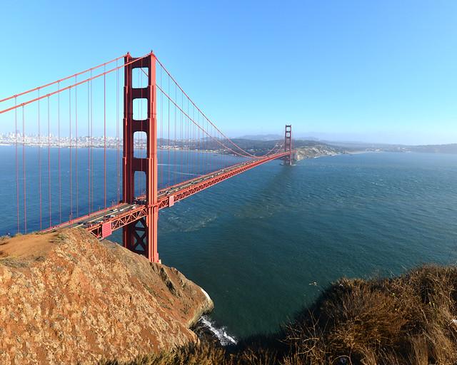 Puente de San Francisco al atardecer en Estados Unidos