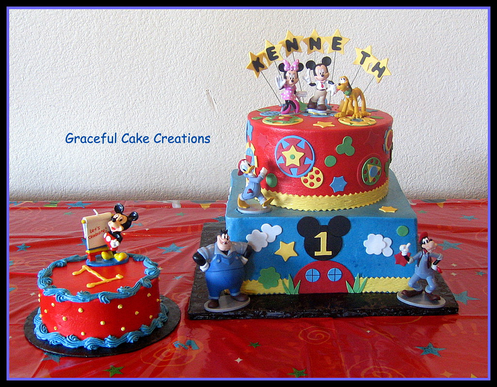 Disney Mickey Mouse Club House 1st Birthday Cake Grace Tari Flickr
