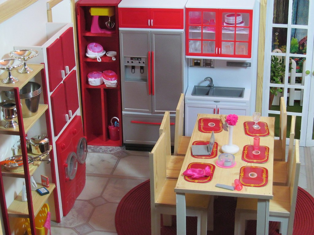 Kitchen doll diorama here is my latest doll set i 39 m not for Doll kitchen set