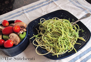 pesto-and-salad-dinner | by thestitcherati