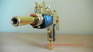 Uzi SMG Gold Plated f | by PureGoldPlating
