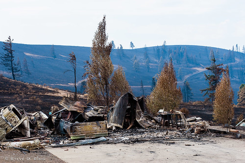 The Remains of a Garage after the Taylor Bridge Fire 8/19/12 | by Steve G. Bisig