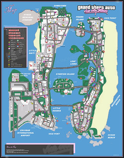 GTA vice city stories Game Map | grand theft auto vice ...