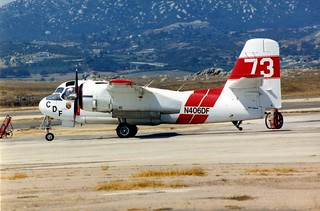 Grumman S2F-1, 133322, N406DF, Ramona CA Aug93 | by San Diego Air & Space Museum Archives