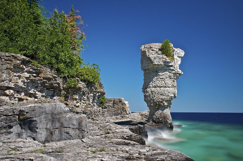 Big Flowerpot Flowerpot Island Ontario Flowerpot Island Flickr