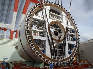 Now we're getting somewhere – The SR 99 tunnel boring machine stands tall | by WSDOT