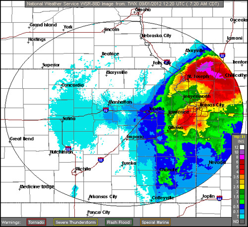 Topeka Radar Rain Isaac | by Skysics