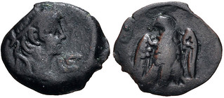 EGYPT, Alexandria. Claudius. AD 41-54. Æ Dichalkon (15mm, 1.40 g, 12h). Dated RY 6 (AD 45/6). Laureate head right; L ς (date) before / Eagle standing right, head left, with wings spread. RPC I -; Köln 148; Dattari (Savio) 292; K&G -; Emmett 99. | by Joe Geranio