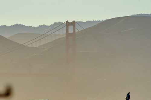 San Francisco the Golden Gate Bridge in the evening haze 1 | by paspog