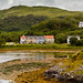 Craobh Haven - view from the marina back to the holiday home (Taigh Nam Broc, top right).
