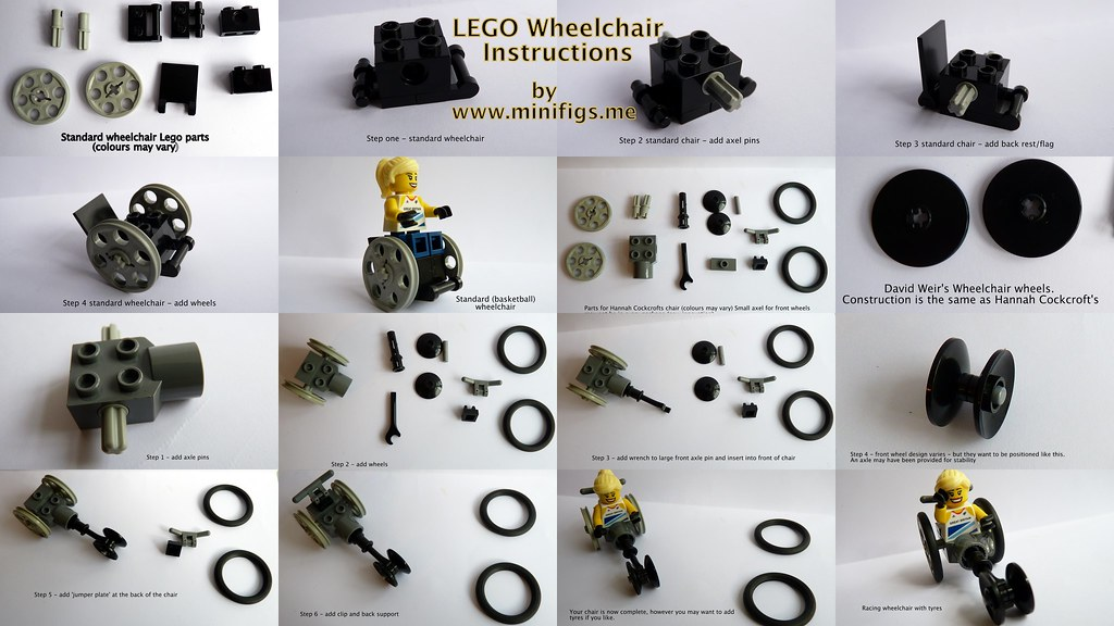Minifigs Custom Lego Wheelchair Instructions From Minif Flickr